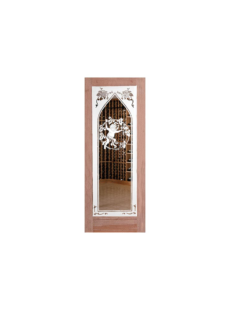 Sauternes Etched Glass Door