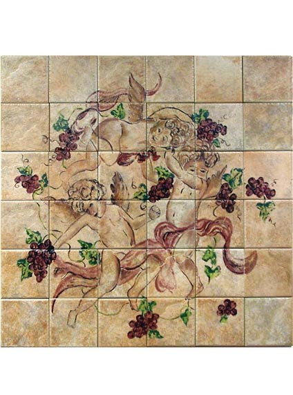 HPT5 Hand Painted Tile Flooring