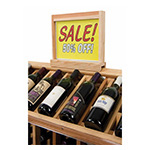 Commercial Wine Display | Island Wine Dsiplay Sign Caddy with Glass Insert