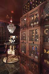 Wine storage lockers