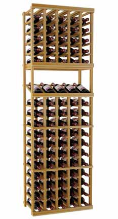 Designer Series Wine Rack -  5 Column Individual with Display