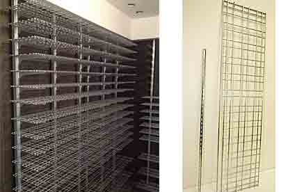 WineZone Wine Shelf System Custom Finishes