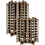 Vintner Series Wine Rack -  Individual Bottle Wine Rack - Curved Corner Top Stack with Lower Display