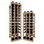 Vintner Series Wine Rack -  Individual Bottle Wine Rack - 3 Column Top Stack with Lower Display
