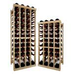 Vintner Series Wine Rack -  Individual Bottle Wine Rack - 4 Columns Top Stack with Lower Display