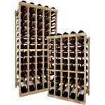 Vintner Series Wine Rack -  Individual Bottle Wine Rack - 5 Column Top Stack with Lower Display