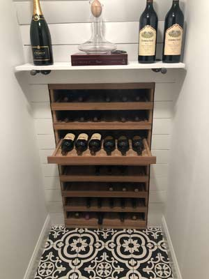 Vintner Pull Out Cradle Wine Shelving