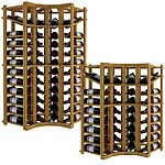 Vintner Series Wine Rack -  Individual Bottle Wine Rack - Curved Corner with Display