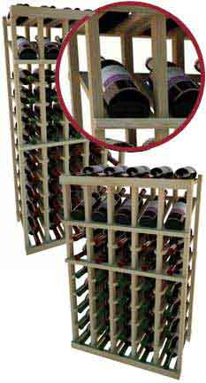 Vintner Series Wine Rack -  Individual Bottle Wine Rack - 5 Columns with Display