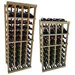 Vintner Series Wine Rack -  Individual Bottle Wine Rack - 4 Columns with Display