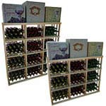 Vintner Series Wine Rack -  3 Column Rectangular Bin Wine Rack