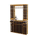 WineMaker 6ft Individual Bottle Wine Rack Kit with Display Row