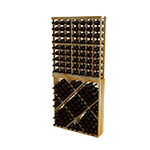 WineMaker 6ft Individual Bottle Wine Rack with Diamond Bin with Face Trim