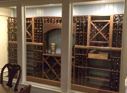 Glass Enclosed Wine Rack - 219362