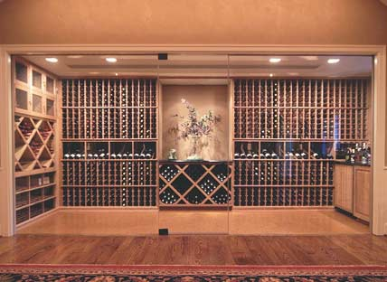 Glass Enclosed Wine Rack - 80455