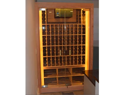 Sentinel Refrigerated Wine Cabinet with Full Glass Doors