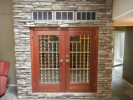 Sentinel Refrigerated Wine Cabinet with Stone Surround