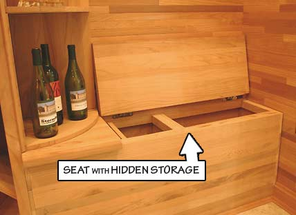 Set with Hidden Storage