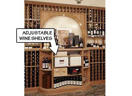 Adjustable Wine Shelves
