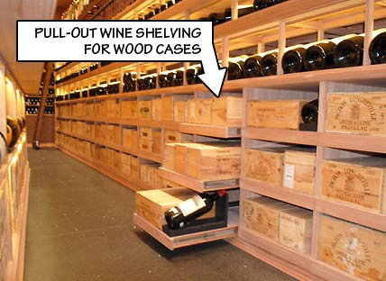 Pull Out Wine Shelving for Wood Cases
