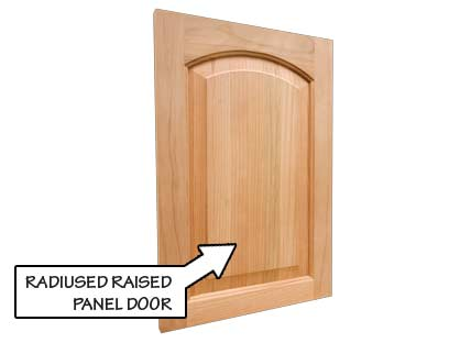 Radiused Raised Panel Door