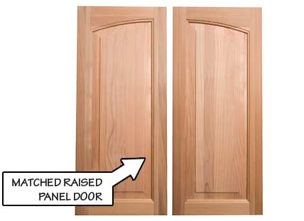 Matched Raised Panel Door