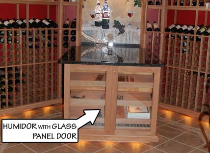 Humidor with Glass Panel Door