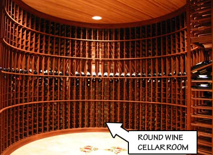 Wine Racking Styles - Round Wine Cellar Room