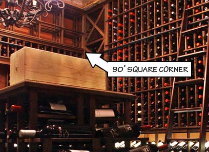 Wine Racking Styles - 90 Degree Square Corner
