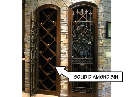 Wine Rack Styles - Solid Diamond Bin