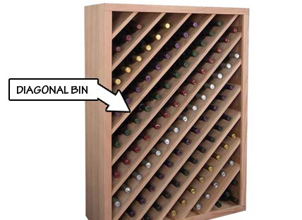 Wine Rack Styles - Diagonal Bin