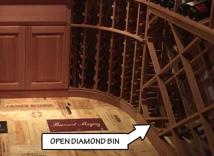Wine Rack Styles - Open Diamond Bin