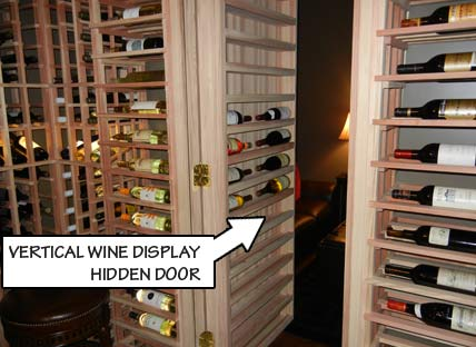 Vertical Wine Display Hidden Door