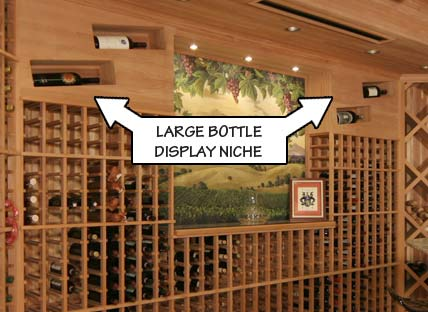 Large Bottle Display Niche