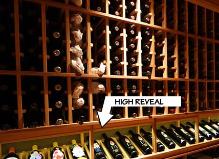 Racking Styles - High Reveal  -Individual Bottle Storage