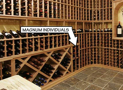 Racking Styles- Magnum Individual Bottle Storage