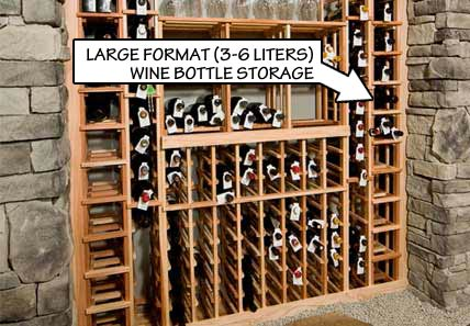 Racking Styles - Large Format -Individual Bottle Storage