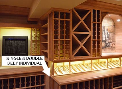 Racking Styles- Single and Double Deep -Individual Bottle Storage