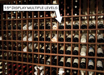 Racking Styles - 15 Degree Display Multiple Levels -Individual Bottle Storage