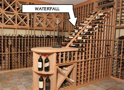 Racking Styles - Waterfall -Individual Bottle Storage