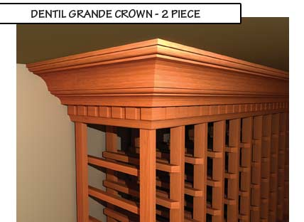 Dentil Grande Crown Two Piece Molding