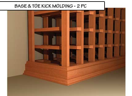 Base and Toe Kick Two Piece Molding