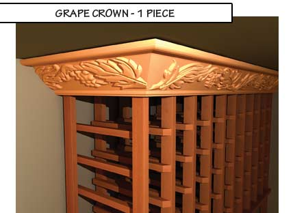 Grape Crown One Piece Molding