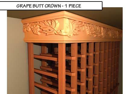 Grape Butt Crown One Piece Molding