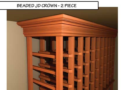 Beaded JD Crown Two Piece Molding