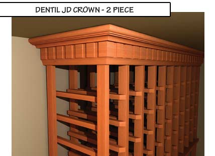 Dentil JD Crown Two Piece Molding