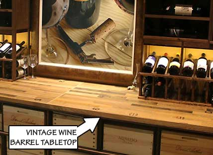 Vintage Wine Barrel Tabletop