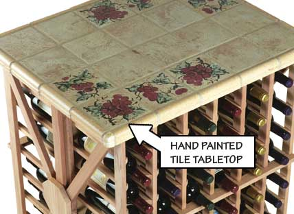 Hand Painted Tile Tabletop