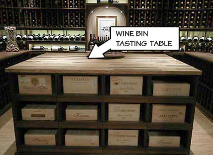 Wine Bin Tasting Table