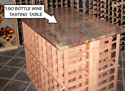 180 Bottle Wine Tasting Table